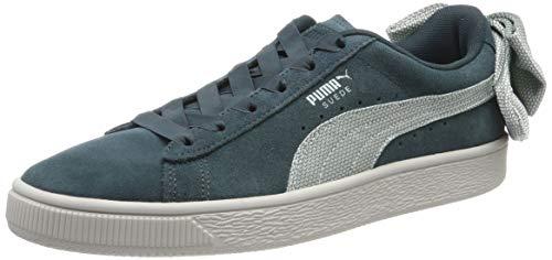 Puma Damen Suede Bow Hexamesh Wn's Sneaker, Grün (Ponderosa Pine-Fair Aqua), 39 EU