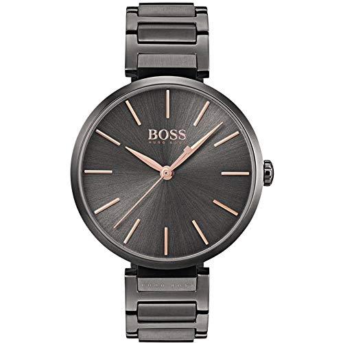Hugo BOSS Reloj Análogo clásico para Mujer de Cuarzo con Correa en Acero Inoxidable 1502416