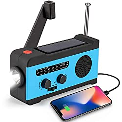 CrazyFire Solar Hand Crank Portable Radio for Camping