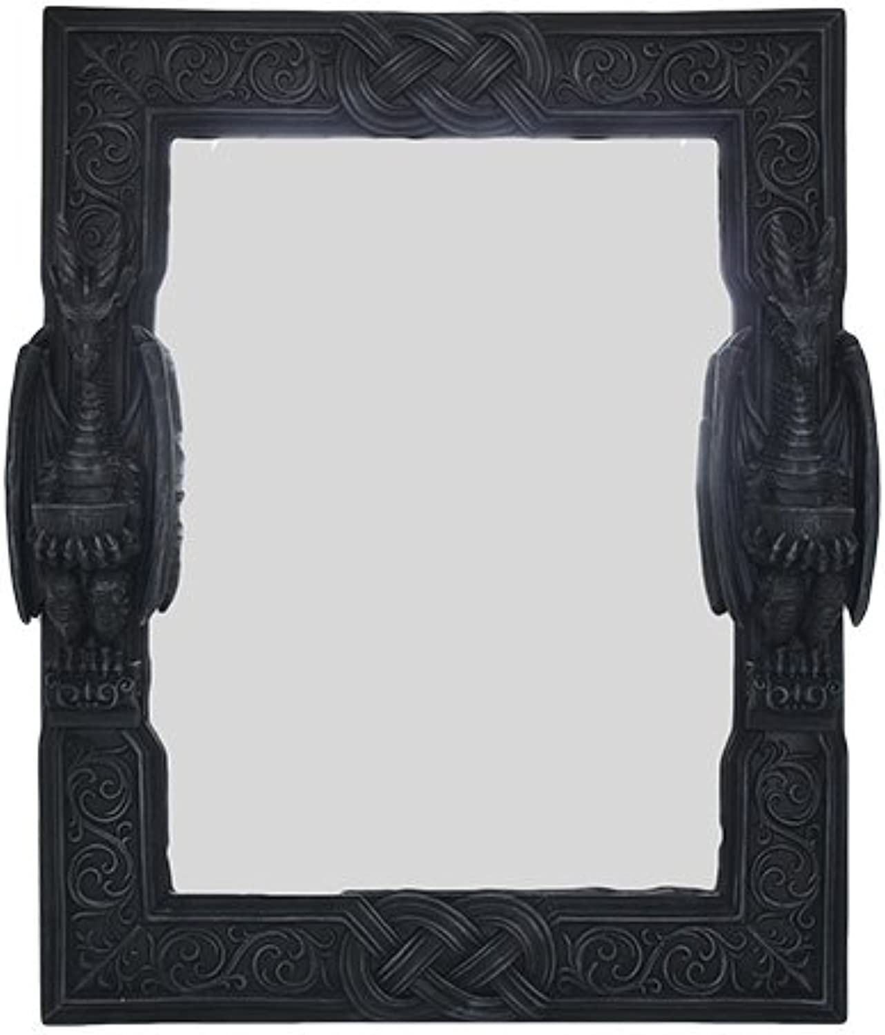Large 23  Tall Celtic Knotwork Dual Saurian Servant Gothic Dragon Wall Mirror Plaque Home Decor