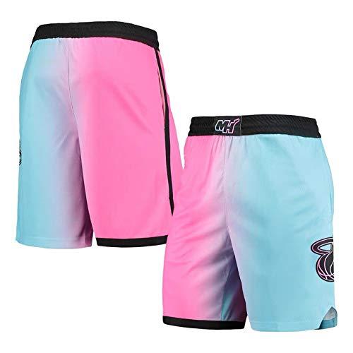 Adebayo Jersey Shorts, NO.13 Jersey de Baloncesto para Hombres, 2021 Temporada Fans City Edition Sin Mangas Chaleco, Tops + Shorts Shorts-L