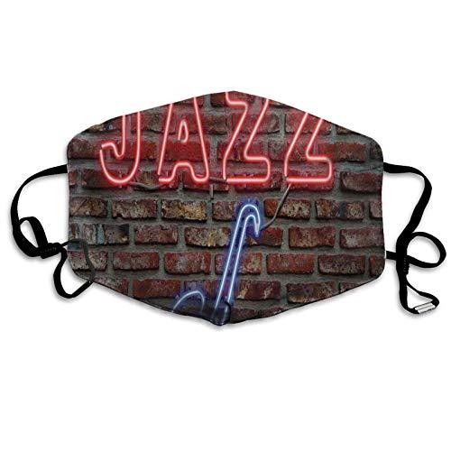Imagen de un letrero de jazz con texto de saxofón en ladrillo, impresión de pared nueva a prueba de sol bufanda bandana pañuelo para la cabeza