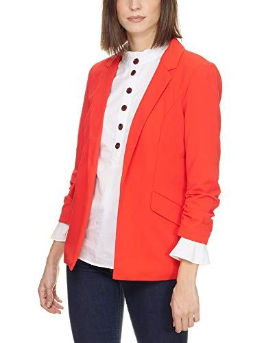 Only Women's Carolina Diana 3/4 Long Blazer Red in