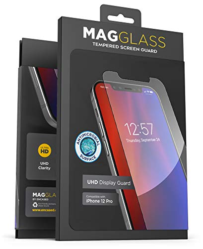 Magglass Tempered Glass Screen Protector Designed for iPhone 12 Pro - Anti Bubble UHD Clear Full Coverage Anti-Microbial Display Guard (Case Compatible)