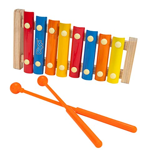 First Act Blippi Toy Xylophone, 9.5 Inch - 8 Keys and 2 Mallets - Musical Instruments for Toddlers and Preschoolers, Ready to Play