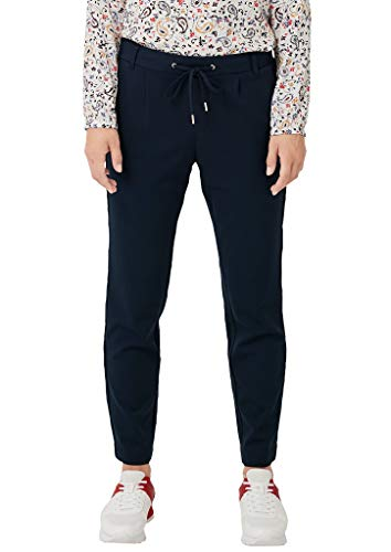 s.Oliver Damen Regular Fit: Tapered leg-Hose im sportiven Look navy 36