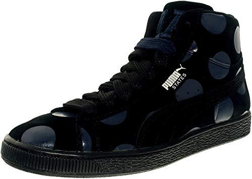 PUMA Men's Suede Classic Mid Sneaker,Puma Black/Puma White,9 M US
