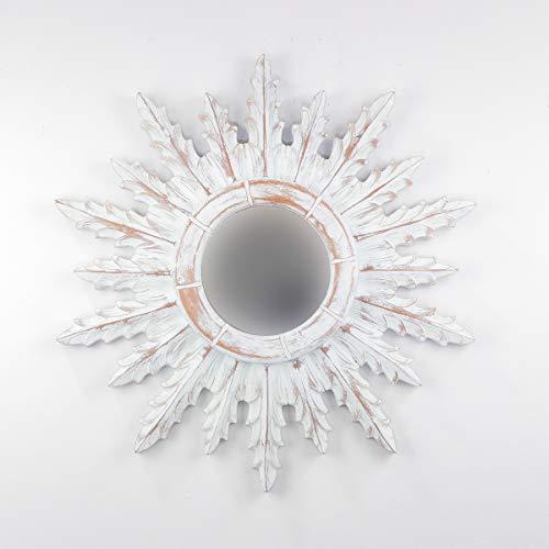 Rococo Espejo Decorativo Tipo Sol de Madera Urban Surya...