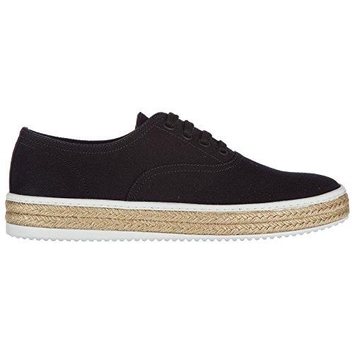 Prada scarpe sneakers uomo in cotone nuove drill nero
