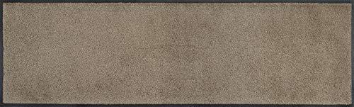 wash+dry Fußmatte, Taupe 35x120 cm, innen und außen, waschbar