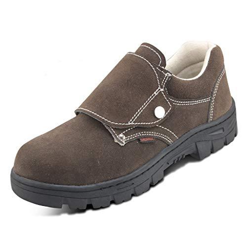 Zapatos de seguridad Zapatos de seguridad de los hombres de los soldadores de soldadura Botas de seguridad de punción prueba de carne tendón inferior de protección de seguridad Zapatos de trabajo info