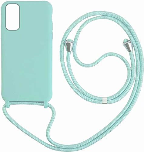 Kompatibel mit Samsung Galaxy A51 Silikon TPU Handy-Kette Handyhülle mit Band Handy Hülle mit Kordel zum Umhängen.