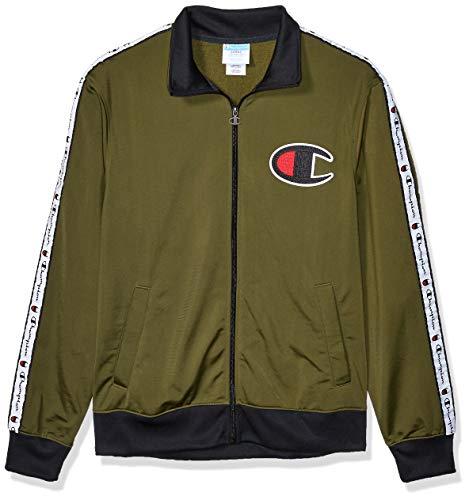 Champion LIFE Herren Track Jacket Jacke, Wanderer, Grün/Schwarz, Large