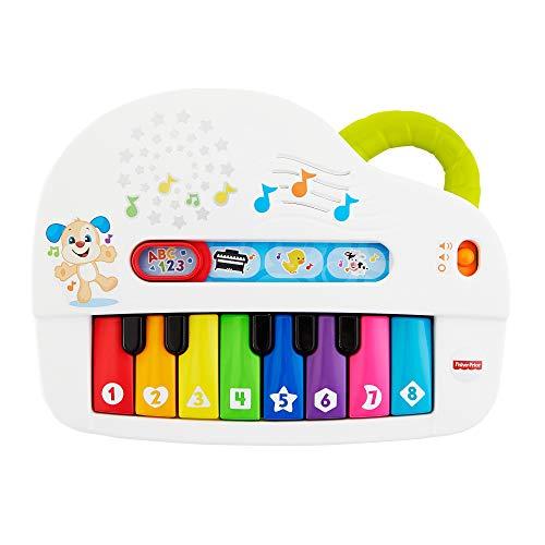 Fisher-Price GFK01 – eerste babytoetsenbord, piano educatief speelgoed met liedjes, geluiden en sets vanaf 6 maanden, Duitstalig