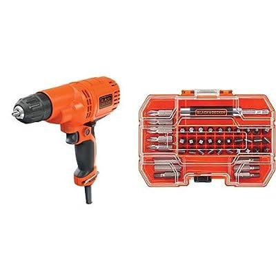 BLACK+DECKER Corded Drill, 5.2-Amp, 3/8-Inch (DR260C)