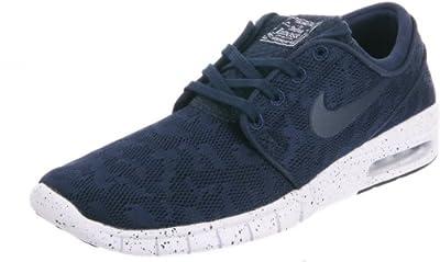 Nike Men's Stefan Janoski Max Midnight Navy/White Ankle-High Running Shoe - 13M