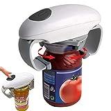 AKQ Apriscatole Elettrico, Professionale Apriscatole Automatico One Touch, Funzionamento a Batterie, Gadget da Cucina per Gli Anziani