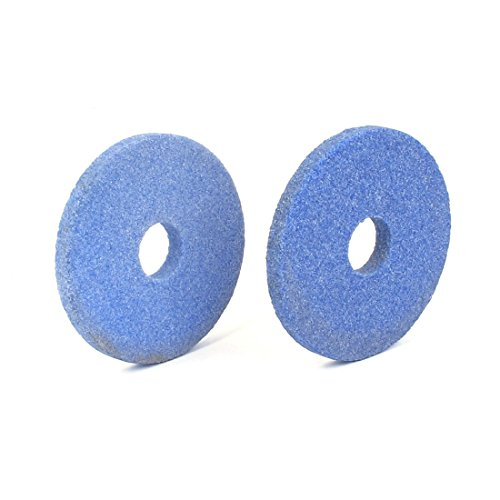 Carborundum Abrasivos Ronda de la muela abrasiva Azul 70 x 8 x 16 mm 2 piezas