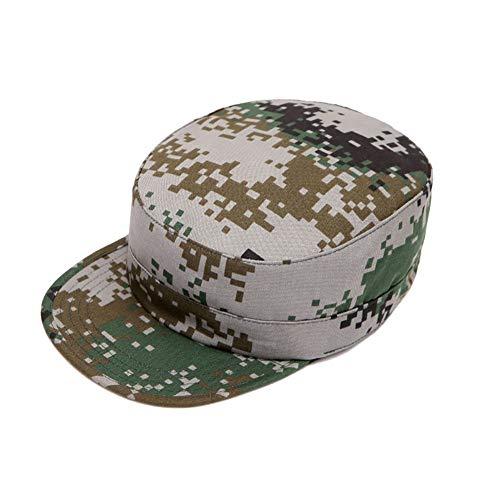 Aesy Gorras de Hombre Plana, Gorras de Béisbol, Ajustable Algodón Sombrero Cabeza Gorras de Militar Plana (Negro)