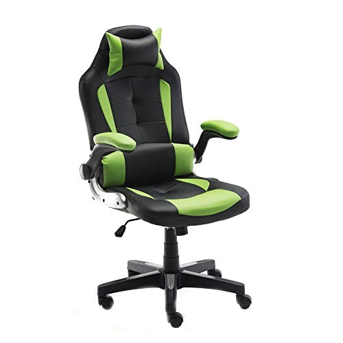 ALEKO ALC6128GNBK Ergonomic Reclining High-Back Office/Gaming Chair - Green and Black chair gaming green
