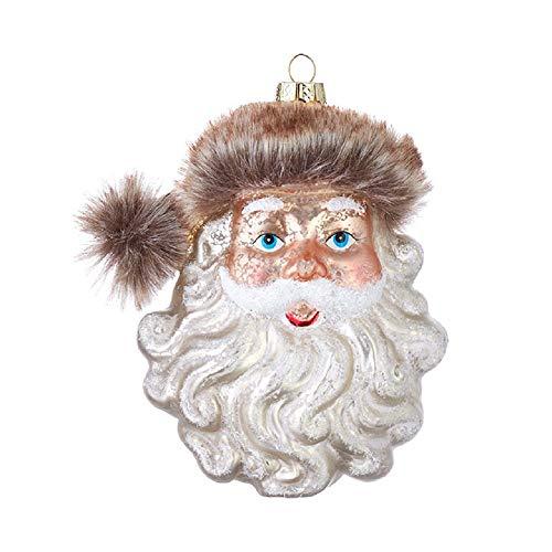 Raz 4052901 Santa Ornament, 5-inch