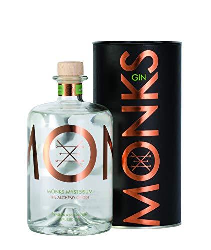 Monks -Mysterium- Gin aus Südafrika/Genuss/Pflanzen vom Kap/würzige Aromen/Skeletium/Wachholder/Fynbos / 0,7 L Flasche 43% Vol/Craft Gin (Flasche)