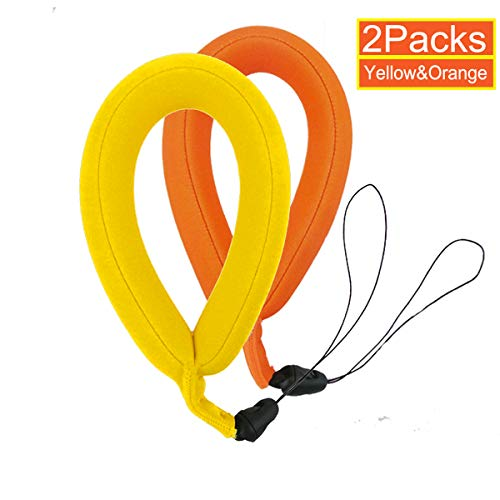 Camera Float Strap Floating Hand Wrist Strap 2 Packs for GoPro Hero 5 4 Session, Hero 3 2 1, Xiaomi yi, Polaroid, SJCAM Action Cameras for Swimming, Diving, Water Sports