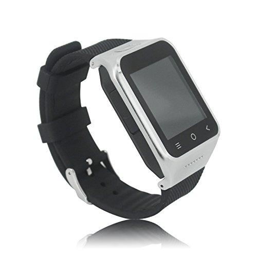 ZGPAX S8 Android 4.4 Smart Watch SmartWatch Phone Dual Core CPU, 3G, 8GB Internal Memory, 5 Megapixel Camera, 1.54 Inch Display Original Silber