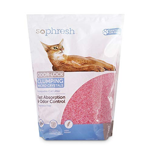 Petco Brand - So Phresh Scoopable Odor-Lock Clumping Micro Crystal Cat Litter in Pink Silica, 8 lbs.