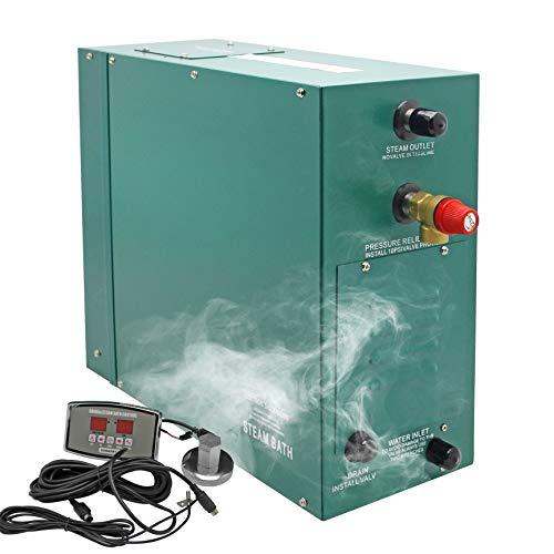 Hanchen Sauna dampferzeuger 4.5KW für 3-5m³ Raum 35-55 ℃ Temperaturverstellbare Dusche Dampfgenerator Dampfer für Dampfbad türkisches Bad zu Hause 220V CE