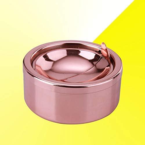 LPxdywlk Posacenere Doppio Placcatura Aperto Posacenere Tondo per Fumatori Antivento in Acciaio Inossidabile Rotante con Coperchio BronzoNone