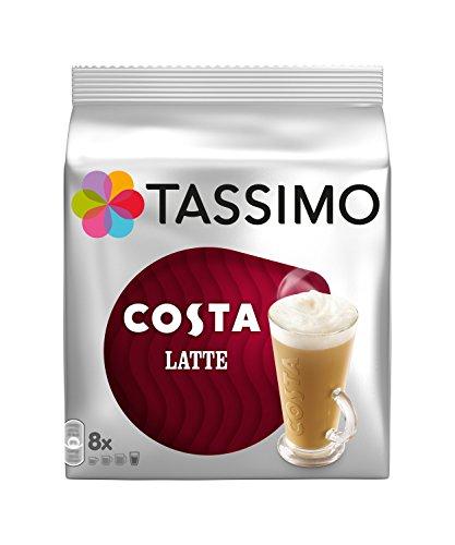 3 X TASSIMO Costa LATTE Pack (Total 48 Discs - 24 Servings) T Discs Capsules by Tassimo
