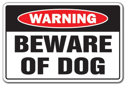 SignMission Beware of Dog Warning Aluminum Sign Dog pet Parking Pit Bull Aluminum Signs Security Guard Dog | Security Aluminum Sign Office Warning Aluminum Sign, Office, Business | Aluminum