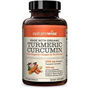 NatureWise Organic Curcumin Turmeric Advanced Absorption Antioxidant with Ginger and BioPerine, 500 mg, 120 count