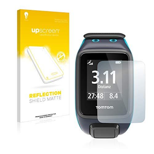 upscreen Entspiegelungs-Schutzfolie kompatibel mit Tomtom Runner 2 – Anti-Reflex Bildschirmschutz-Folie Matt