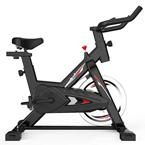 Bicicleta Estatica Bicicleta Giratoria con Disco De Inercia De 6 Kg, Resistencia Ajustable, Bicicleta De Fitness con Sillín Ajustable, Bicicleta De Interior con Pulsómetro, Apta para Hogar, Oficina
