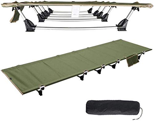 ytrew Folding Camping Cots for Children Adult, Extra Strong Single Person Small-Collapsing Bed, Ultra Lightweight Bed Portable Cot Free Storage Bag Included, 2.2 Pounds