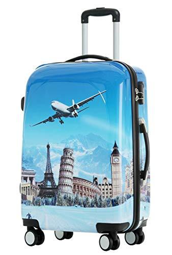 BEIBYE Reisekoffer Hartschalen Hardcase Trolley...