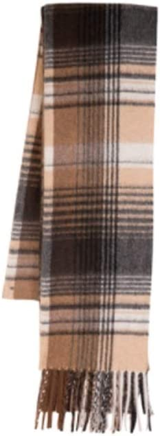 ZANZAN Cold Weather Scarves Men's Scarves Classic Winter Plaid Tassel Edge Soft Warm Water Pattern Scarf 11.8x70.8in The Best Gift for a Male Friend Decorative Scarf
