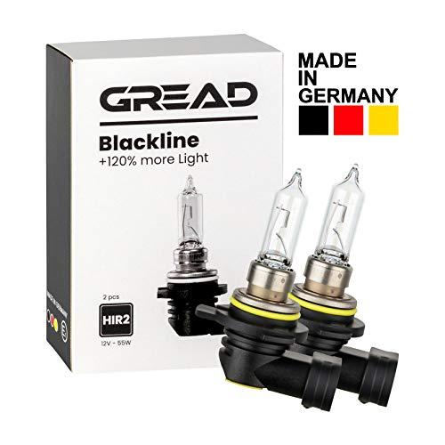 Gread - 2x HIR2 Halogen Lampen +120% - das Perfomance-Set Blackline