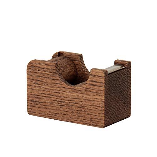 無垢の木の文具 Oak Village(オークヴィレッジ) テープカッター 小 ブラウン色