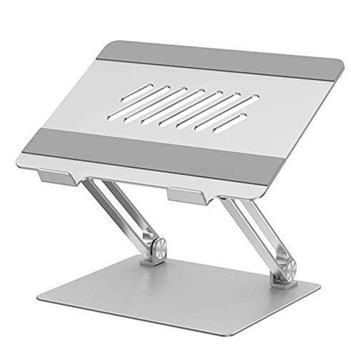 Soporte Laptop Ajustable, Soporte Ergonómico de Aluminio para Ordenador Portátil Elevado con Ventilación de Calor, Compatible con 10-17' Computadora Portátil,Plata