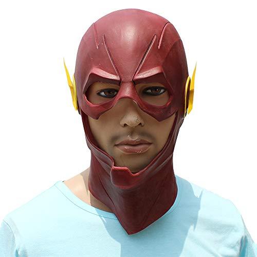 Hope La máscara de Flash máscaras de látex del Traje Rojo Cosplay Completo de la Cabeza del Casco de Halloween Party Carnival Puntales Mascarada Accesorios de Vestir,Red-OneSize