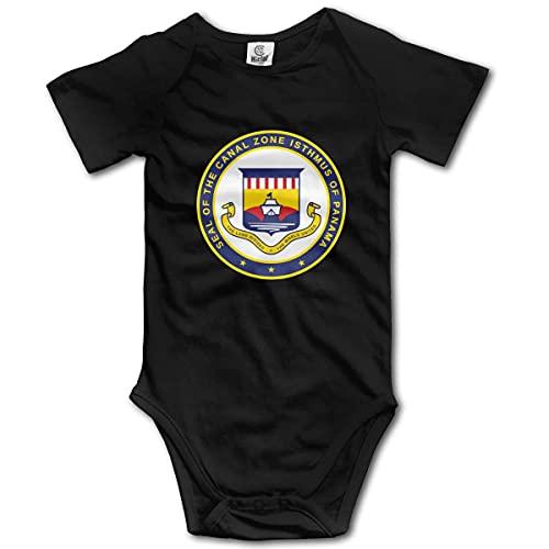 DERKOLY Panama Canal Zone Cotton Body de jersey para bebé recién nacido Body divertido de manga corta 0-24 meses