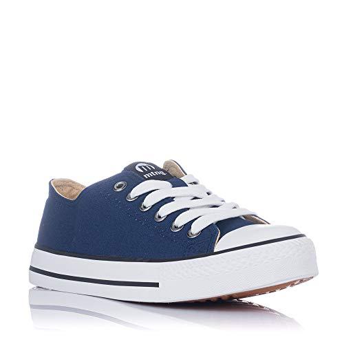 Zapatillas Lona Mustang Azul 13991