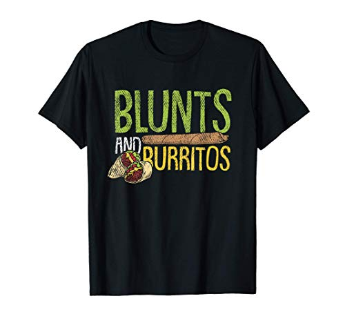 Blunts And Burritos Mexican Food Weed Marihuana Stoner Camiseta