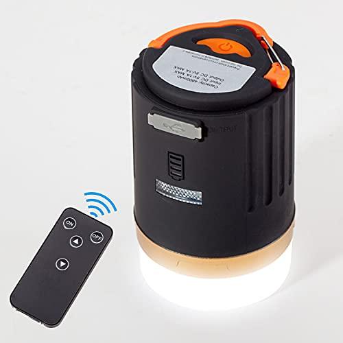 Copoki Lanterna da Campeggio LED IP65 Impermeabile, 3 modalità di Illuminazione, Lampade da Campeggio USB mit 4800mAh Power Bank per Emergenza Escursione Pesca Trekking