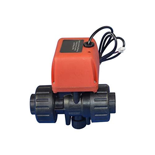 LXH-SH Das elektromagnetische Ventil Mikromotorkugelventil PVC-Kunststoff-Elektroventil 6-24V DC 220V AC Laugenbeständig EIN/Aus 12,5 Sec G1 / 2