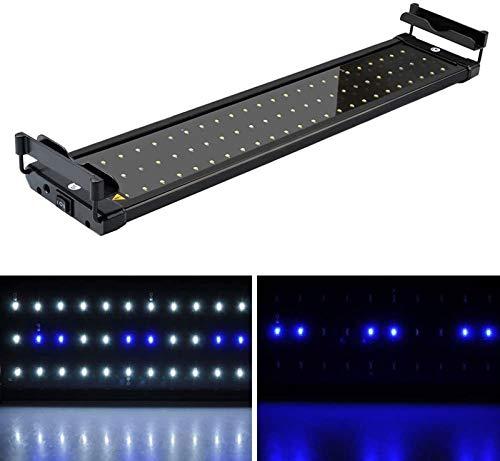 MLJ Aquarium Éclairage LED,6W/11W/18W/25W/32W avec Support Réglable pour Lampe, Aquarium Plantes...