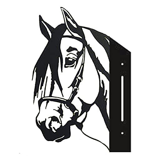 Bauernhof Spanntiere Rinder Metallkunst Outdoor Outdoor Garten Anhänger Dekoration, Tiere Hof Kunst, Terrasse Hinterhof Rasen Dekoration Statue, Schwein/Ente/Tiger/Pferd, Zaun Hängende Ornamente
